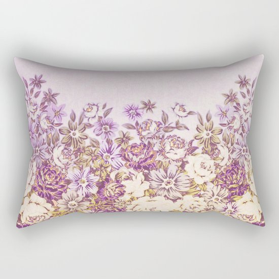 floral decor in vintage tones Rectangular Pillow