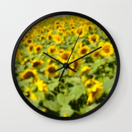 Summer Sunflower Love II Wall Clock