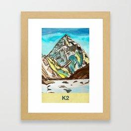 K2 Framed Art Print