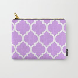 MOROCCAN PURPLE VIOLET AND WHITE PATTERN Carry-All Pouch