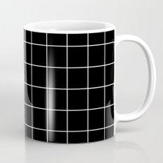Black White Grid Mug