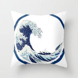 The Big Wave 2 Throw Pillow