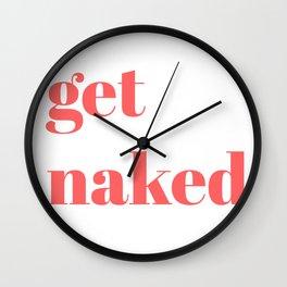 get naked VIII Wall Clock