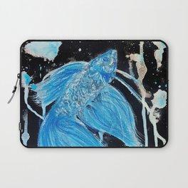 Blue Splatter Drip Betta Laptop Sleeve