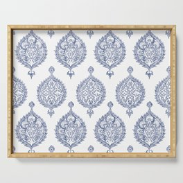 Endana Medallion Print in Periwinkle Serving Tray