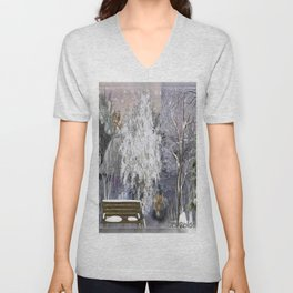 The Magic Of A Winter Day Unisex V-Neck