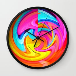 Psychedelic Moonshine Wall Clock
