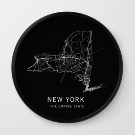 New York State Road Map Wall Clock