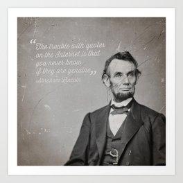 Abraham Lincoln Quote Art Print