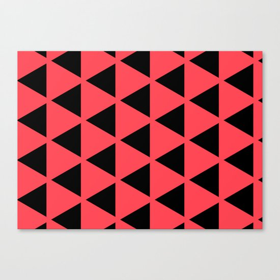 Sleyer Black on Pink Pattern Canvas Print