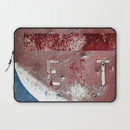 Peeling Sign In The Desert Heat Laptop Sleeve