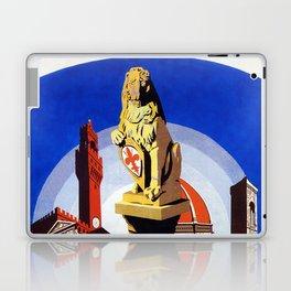 Florence Firenze travel, lion statue Laptop & iPad Skin