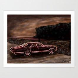 Metalli-car Art Print