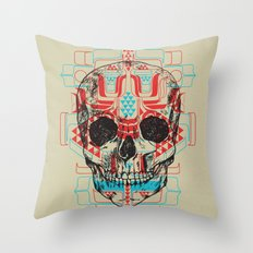 Skull Native Throw Pillow