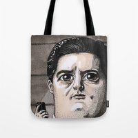 dale cooper Tote Bags featuring Dale Cooper by Drawn by Nina