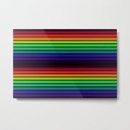 Spectrum - Rainbow Stripes - Colorful - Manafold Art Metal Print