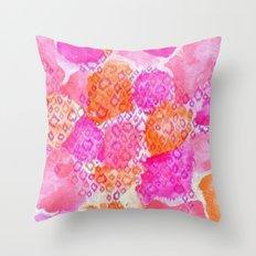 The skin of Pink Cheetah Throw Pillow