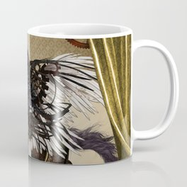 Wonderful dark steampunk unicorn with wings Coffee Mug