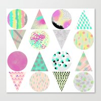 psychedelic Canvas Prints featuring Psychedelic by Catalina Montaña