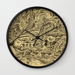 Sick Chamber by Brian Benson Wall Clock