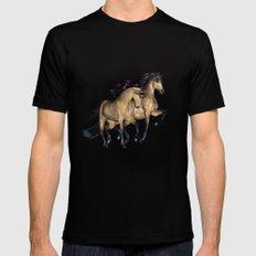HORSES - The Buckskins Black Mens Fitted Tee MEDIUM