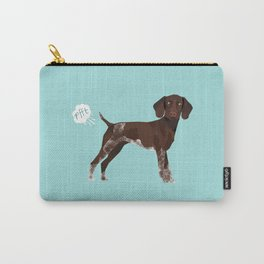 german shorthair pointer funny farting dog breed gifts Carry-All Pouch