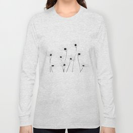 black and white cosmos Long Sleeve T-shirt
