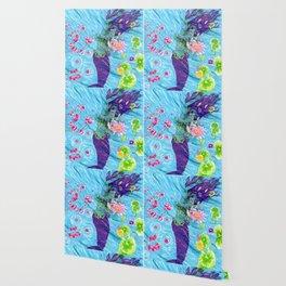 Floral Mermaid Wallpaper