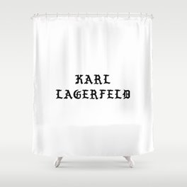 Karl Lagerfeld Calligraphy Shower Curtain