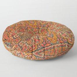 Persian Miniature Art Ornamental Tilework, Shiraz Floor Pillow