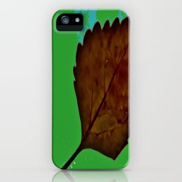BE LIKE A LEAF #5 iPhone Case