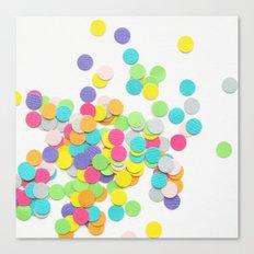 Confetti on White Canvas Print