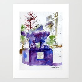 20141206 Bird@UOBPlaza Art Print