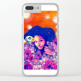 Poppy Love Clear iPhone Case