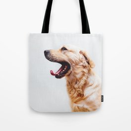 Golden Retriever Dog Yawning Tote Bag