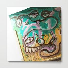 Esperantos Mural Face Metal Print