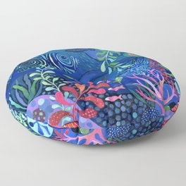 Botanical Sea Garden Floor Pillow