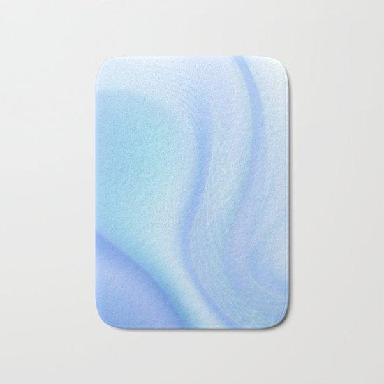 Soft Blue Wave Bath Mat