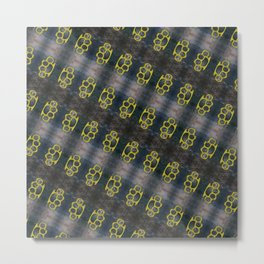 Brass Knuckles Pattern Metal Print