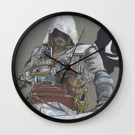Black Flag Wall Clock