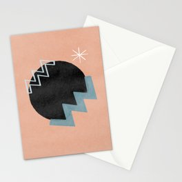 Star and vibrations on a black hole - minimalist design Stationery Cards