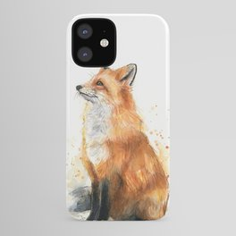 Fox Watercolor Red Fox Painting iPhone Case