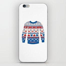Cozy sweater iPhone Skin