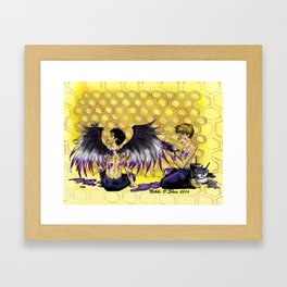 Ace Wings and Honeycombs Framed Art Print