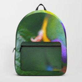 Impressive Wonderful Exotic Little Gouldian Finch Bird Close Up Ultra HD Backpack