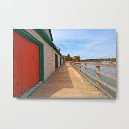 Basin Head Beach Boardwalk Metal Print