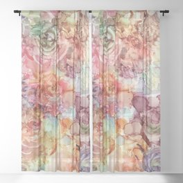 Watercolored Dream Sheer Curtain