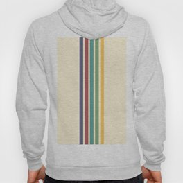 Minimal Abstract Retro Stripes 70s Style - Chacha Hoody