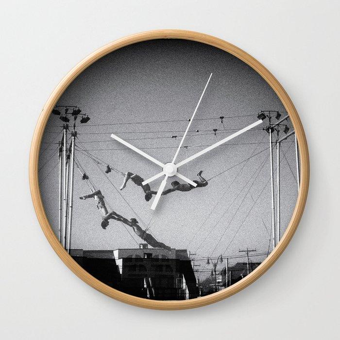 NOIR ACROBATICS III Wall Clock