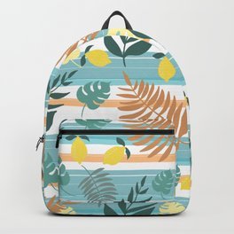 Botanical Collage With Stripes Backpack